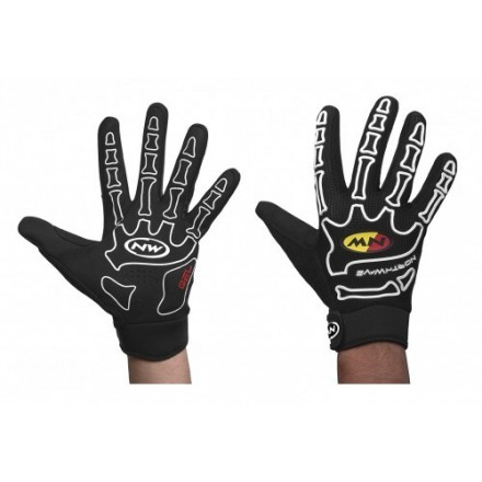 Guantes Largos Northwave Skeleton Blanco