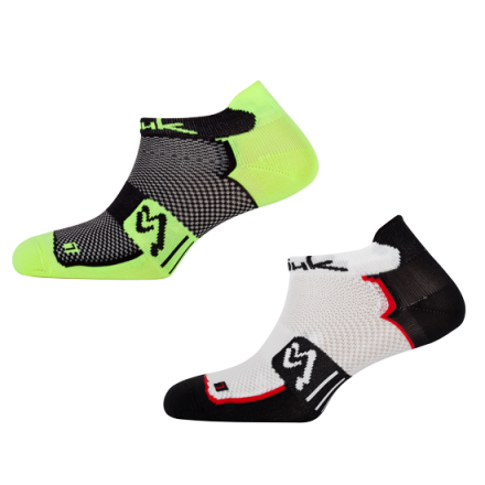 Calcetines PACK 2 UDS XP micro fluor-negro y blanco-negro